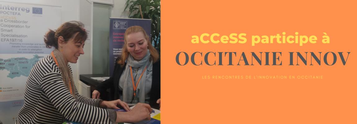 Le projet aCCeSS participe à la 13e édition de OCCITANIE INNOV