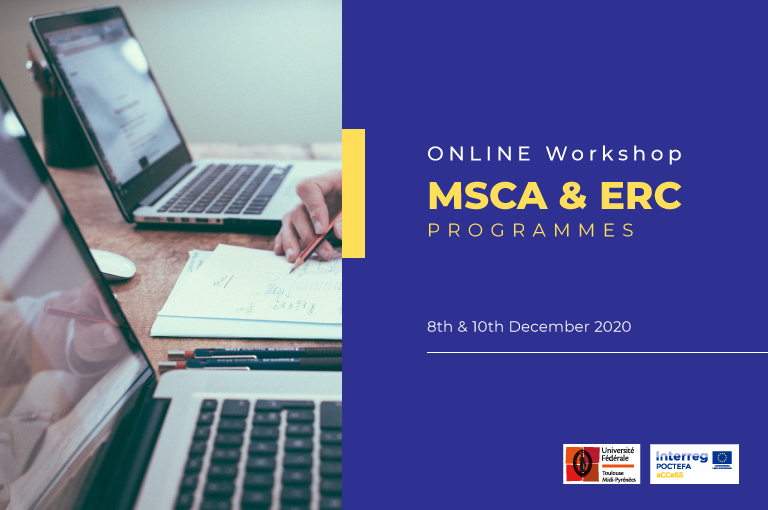 Workshop online sobre Marie Curie-Innovative Training networks (MSCA-ITN) y convocatorias del Consejo Europeo de Investigación (ERC)