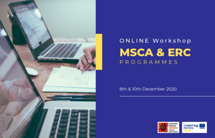 Workshop Online sur les Réseaux de Formation Innovants Marie Curie (MSCA-ITN) et Appels du Conseil Européen de la Recherche (ERC)